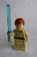 FIGURINE LEGO STAR WARS - LOBIWAN KENOBI YOUNG  - MINI FIGURE 2014 Légo - Figurines