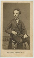 CDV 1862. Un Homme En Pose. Gustave Sey ? Dédicace. Photographe Bousseton & Appert à Paris. - Old (before 1900)