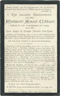 Doodsprentje: COBBAERT Florimond Amand: °Bekegem, 1897 Gesneuveld Zomergem, 30 Okt 1918. Zoon Louis En Rosalie VAN HULLE - Religion & Esotericism