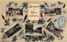 MONTATAIRE - Souvenir De Montataire - Multivues - Fantaisie (carte Toilée) - Montataire