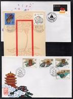 PR CHINA - CHINE / 1986-1987 - 3 ENVELOPPES FDC (7061) - 1980-89