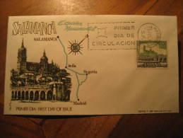 SALAMANCA 1968 Puente Bridge Architecture Fdc Spain Spd Cancel Cover Madrid - 1931-Hoy: 2ª República - ... Juan Carlos I