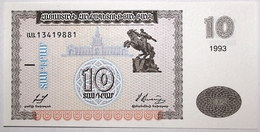Arménie - 10 Dram - 1993 - PICK 33 - NEUF - Arménie