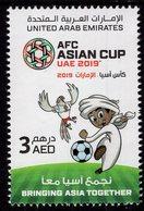 United Arab Emirates - UAE - 2019 - AFC Asian Football Cup - Mint Stamp With Varnish - Emirati Arabi Uniti