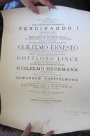 Diplôme De Juriste Ou De Diplomate De 1912 Avec Sceau Papier Ferdinando I - Diplomas Y Calificaciones Escolares