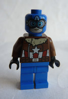 FIGURINE LEGO SUPER HEROS MARVEL - PILOT CAPTAIN AMERICA  - MINI FIGURE 2017 Légo - Figurines
