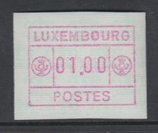 Luxemburg FRAMA-ATM 3.Ausgabe Inschrift POSTES Gross , Mi.-Nr. 3 ** - Vignette