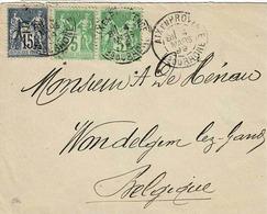 TP N ° 102 En Paire Horizontale Et 90 Sur Enveloppe D'Aix En Provence - 1877-1920: Période Semi Moderne