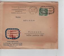 PR7599/ Danzig Cover LU Posta 1932 Internationale Luftpost-Ausstellung 23 > 31 Juli 1932 > Brüssel - Europe (Other)