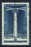 French Somali Coast, Ras Bir Lighthouse, 1956, VFU - Used Stamps