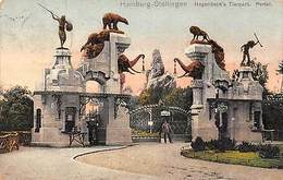 Germany Hamburg Stellingen Hagenbeck's Tierpark Portal Statues - Vari