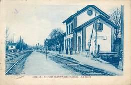CPA 51 Marne St Saint Just Sauvage La Gare - Autres Communes