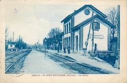 CPA 51 Marne St Saint Just Sauvage La Gare - France