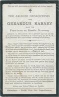 Doodsprentje: RABAEY Gerard: ° Bekegem, 3 Januari 1907,+ Bekegem, 3 Januari 1919. Zoon Van Franciscus En Rosalia DUMAREY - Religion & Esotérisme