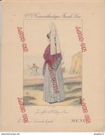 Au Plus Rapide Menu Paquebot Normandie Costumes Normands De Jadis Jeune Fille De Saint Valéry En Caux - Menus