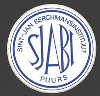 Puurs - Sint-Jan Berchmansinstituut / SJABI - Reclame Sticker / Autocollant Publlicitaire - Puurs