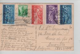 PR7600/ Liechtenstein (Fürstenstein) PC Vaduz C.Vaduz 1937 > Bruxelles (Brussels) - Lettres & Documents