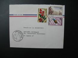 Lettre  Thème Insectes Stérnotomis  Trains Fleurs Congo  1971  Pour La Sté Générale Bd Haussmann Paris - Oblitérés