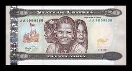 Eritrea 20 Nakfa 1997 Pick 4 SC UNC - Eritrea