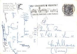 Cartolina Pisa Vedute Timbro A Targhetta Stradale 1960 - Pisa