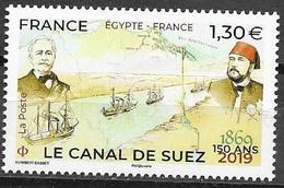 FRANCE, 2019, MNH,SUEZ CANAL, SHIPS, 1v - Histoire