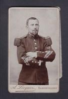 Photo Originale Cdv A Locquier Rambervillers Portrait Militaire Du 17 17è Bataillon De Chasseurs à Pied B.C.P. - Oorlog, Militair