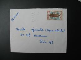 Lettre  Thème Insectes Plocaederus Denticornis  Ile Maurice  Pour La Sté Générale Bd Haussmann Paris - Mauritius (1968-...)