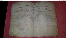 """Brevet De """"1er Commis Au Contrôle Général De La Maison Du Roi"""" 20/08/1820 Sur Peau - Documents Historiques"""