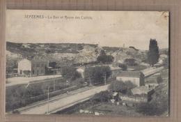 CPA 13 - SEPTEMES - Septêmes - La Gare Et Route Des Caillols - TB PLAN EDIFICE FERROVIAIRE CHEMIN DE FER - Francia