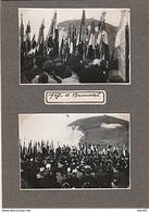 LOT DE 4 PHOTO HISTORIQUE BRUNEVAL 1947 DISCOURS DU GENERAL DE GAULLE Inauguration Monument - War, Military