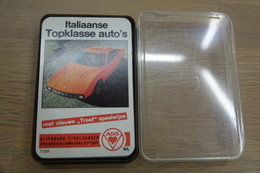 Speelkaarten - Kwartet, Italiaanse Topklasse Auto's, ASS, *** - Vintage - Cartes à Jouer Classiques