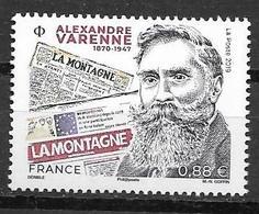 FRANCE, 2019, MNH,ALEXANDRE VARENNE, JOURNALISTS, FOUNDER OF LA MONTAGNE, 1v - Celebrità