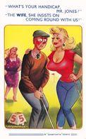 Golf Handicap Caddy With Huge Boobs Comic Humour Postcard - Humor