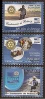 Ecuador 1831/33 2005 Centenario Rotary Chimborazo Cotopaxi Shisha Pangma MNH - Francobolli