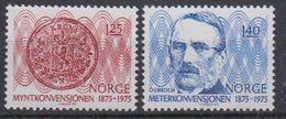 Norway 1975 Meterkonvention 2v ** Mnh (45303C) - Unused Stamps