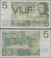 NETHERLANDS - 5 Gulden 1966 P# 90 Europe Banknote - Edelweiss Coins - 5 Gulden