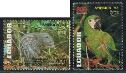 Ecuador 1284/85 1993 UPAEP Fauna Dinomys Ara Severa Bird  MNH - Zonder Classificatie