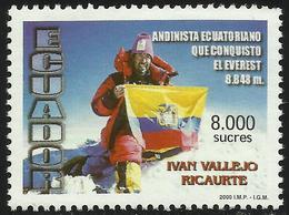 Ecuador 1501 2000 Alpinista Ivan Vallejo Ricaurte Everest MNH - Zonder Classificatie