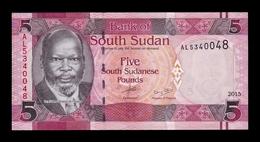 South Sudan Del Sur 5 Pounds 2015 Pick 11 SC UNC - Südsudan
