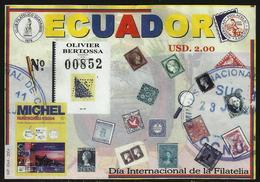 Ecuador Hojita Block 125 2004 Día Internacional De La Filatelia MNH - Stamps
