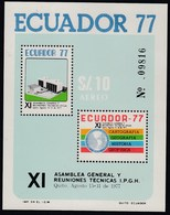 Ecuador Hojita Block 31 1977 XI Asamblea General Y Reuniones Técnicas MNH - Francobolli