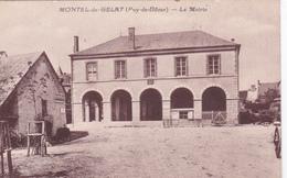 63-MONTEL-de-GELAT (Puy-de-Dôme)- La MAIRIE- Pub BYRRH-Ecrite 1936 - Frankreich