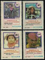 Ecuador A- 702A/D 1980 Homenaje Al Indio Ecuatoriano MNH - Francobolli