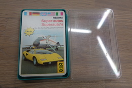 Speelkaarten - Kwartet, Superautos, FX Schmid - Hemma Nr 132, Vintage, *** - - Cartes à Jouer Classiques