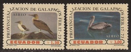 Ecuador A- 573/74 1973 Provincialización Islas Galápagos Fauna Pájaro Bird MH - Ohne Zuordnung