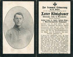 Ardennes.1918.CHARLEVILLE Sterbebild Avis Décès Soldat Allemand - 1914-18
