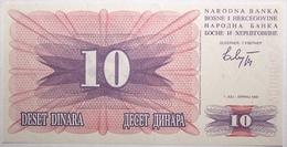 Bosnie-Herzégovine - 10 Dinara - 1992 - PICK 10a - NEUF - Bosnia Y Herzegovina