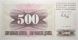 Bosnie-Herzégovine - 500 Dinara - 1992 - PICK 14a - NEUF - Bosnia Erzegovina