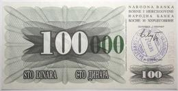 Bosnie-Herzégovine - 100000 Dinara - 1993 - PICK 56i - NEUF - Bosnia Y Herzegovina