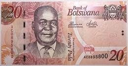 Botswana - 20 Pula - 2012 - PICK 31c - NEUF - Botswana